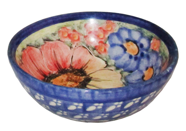 "Boleslawiec Polish Pottery UNIKAT Mini Bowl ""Flower Field"""