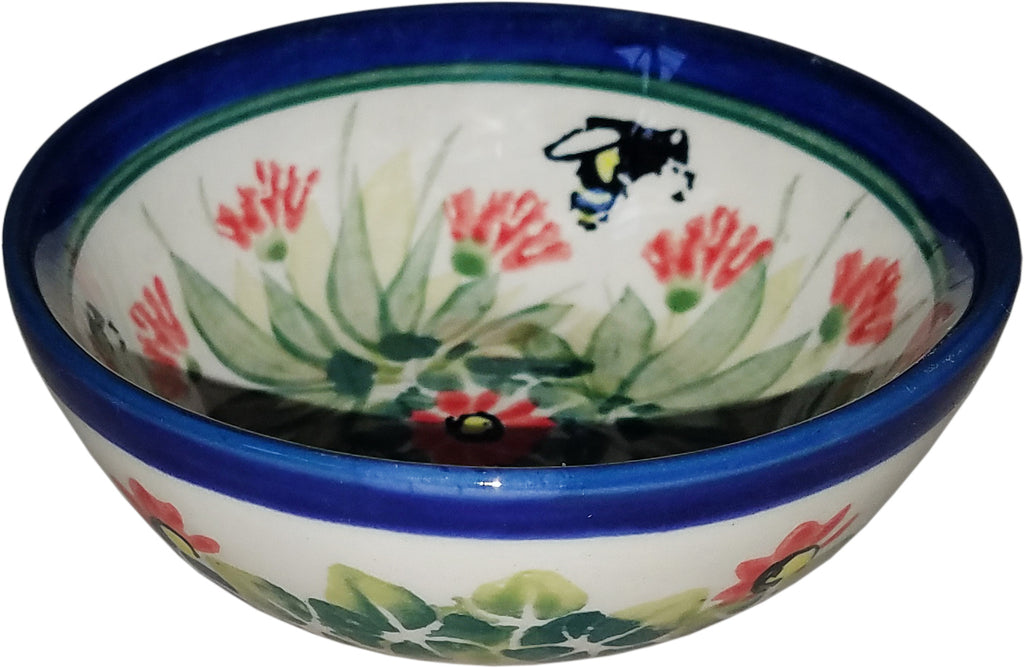 "Boleslawiec Polish Pottery UNIKAT Mini Bowl ""Spring"""