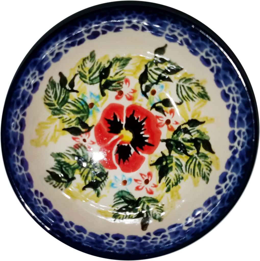 "Boleslawiec Polish Pottery UNIKAT Mini Bowl ""Summer Day"""