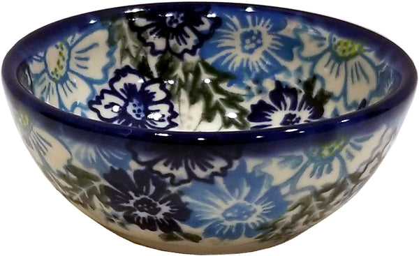 "Boleslawiec Polish Pottery UNIKAT 3.5"" Mini Bowl ""April"""