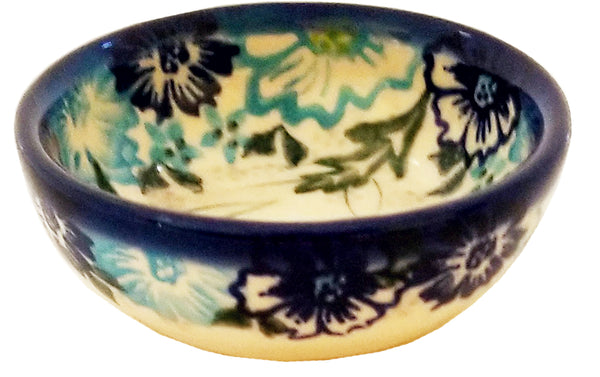 "Boleslawiec Polish Pottery UNIKAT 3"" Mini Bowl ""April"""