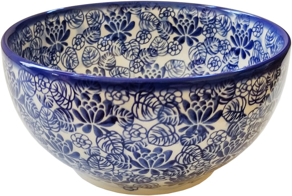 "Boleslawiec Polish Pottery Mixing or Serving Bowl Unikat ""Madeline"" by Eva's Collection"