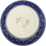 "Boleslawiec Polish Pottery Unikat Large Mixing or Serving Bowl ""Blue Garden"""