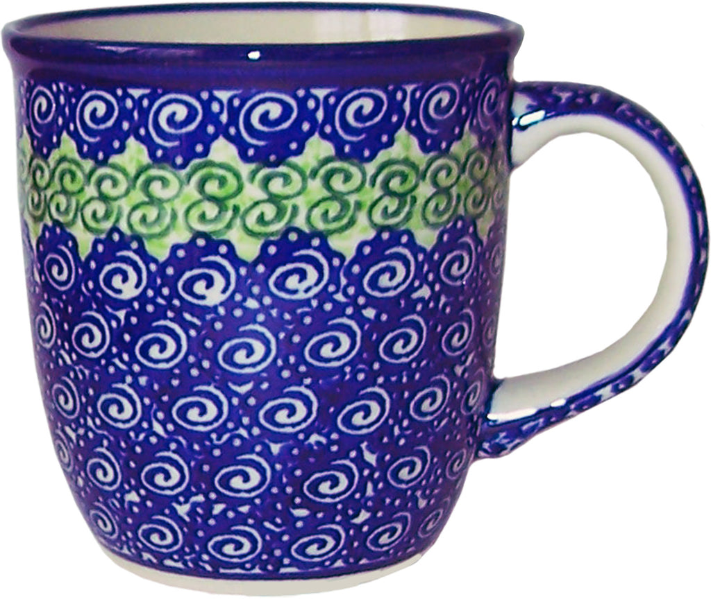 "Boleslawiec Polish Pottery UNIKAT Coffee or Tea Mug ""Alex"""