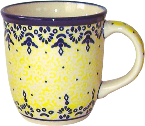 "Boleslawiec Polish Pottery UNIKAT Coffee or Tea Mug ""Lace"""
