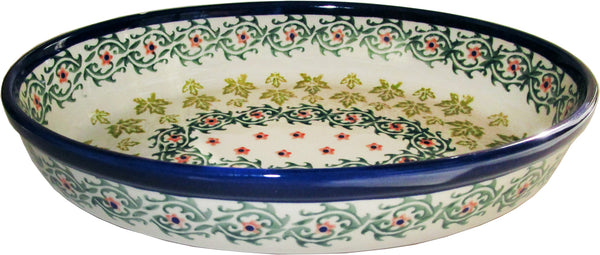 "Boleslawiec Polish Pottery UNIKAT Oval Baker or Serving Dish ""Vermont"""