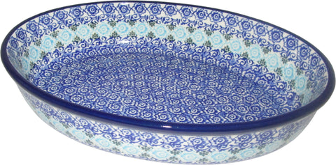 Boleslawiec Polish Pottery Oval Serving Dish and Serving Platter Ceramika Artystyczna 1478