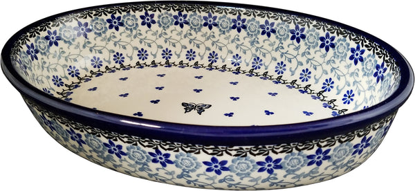 Boleslawiec Polish Pottery UNIKAT Oval Baking Dish and Serving Platter 1941