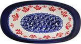 "Boleslawiec Polish Pottery UNIKAT Small Oval Dish ""Maple Leaf"""
