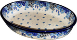 Boleslawiec Polish Pottery UNIKAT Medium Oval Baker CA 4657