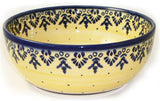 "Boleslawiec Polish Pottery UNIKAT Pasta or Soup Serving Bowl ""Lace"""