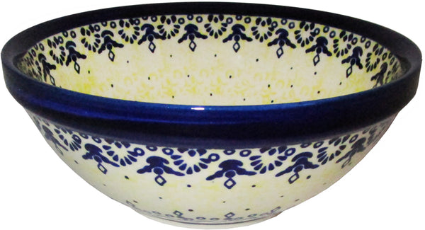 "Boleslawiec Polish Pottery UNIKAT Large Serving or Mixing Bowl ""Lace"""