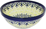 "Boleslawiec Polish Pottery UNIKAT Pasta, Soup, Serving or Mixing Bowl ""Lace"""