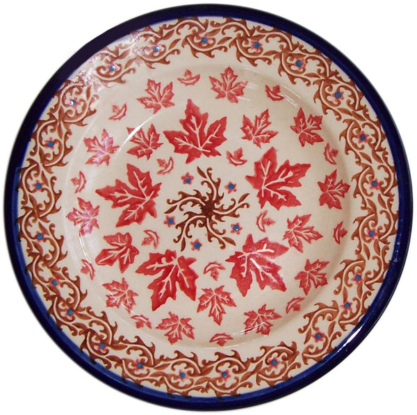 "Boleslawiec Polish Pottery UNIKAT Dinner Plate ""Autumn"""