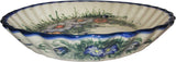 "Boleslawiec Polish Pottery UNIKAT Pie or Quiche Baker ""Wild Field"""