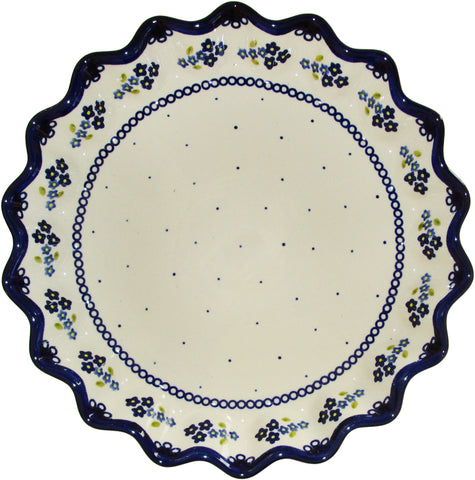 Boleslawiec Polish Pottery UNIKAT Pie or Quiche Baker
