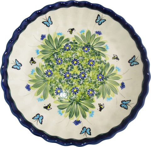 Boleslawiec Polish Pottery UNIKAT Pie Plate or Quiche Baker