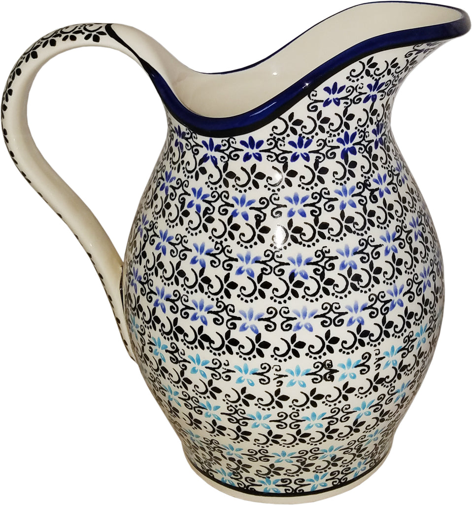 "Boleslawiec Polish Pottery UNIKAT Pitcher Water Jug1.7L ""Martina"""
