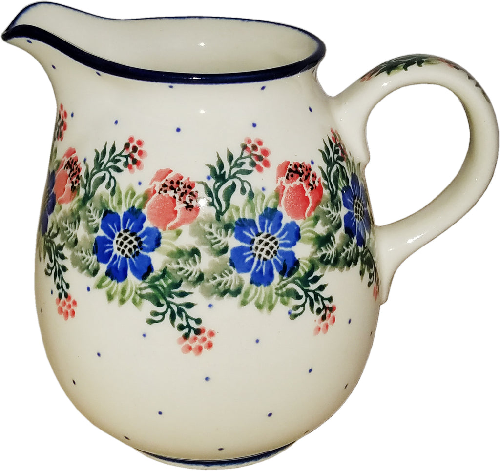 Boleslawiec Polish Pottery  0.5L Pitcher Water or Milk Jug 1535