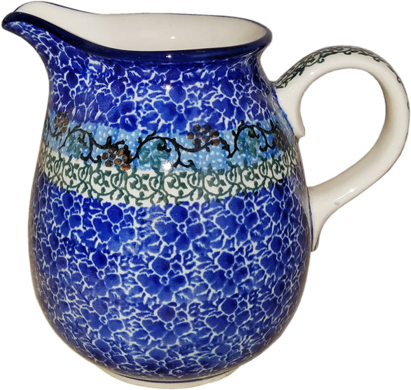 Boleslawiec Polish Pottery  0.5L Pitcher Water or Milk Jug 1647