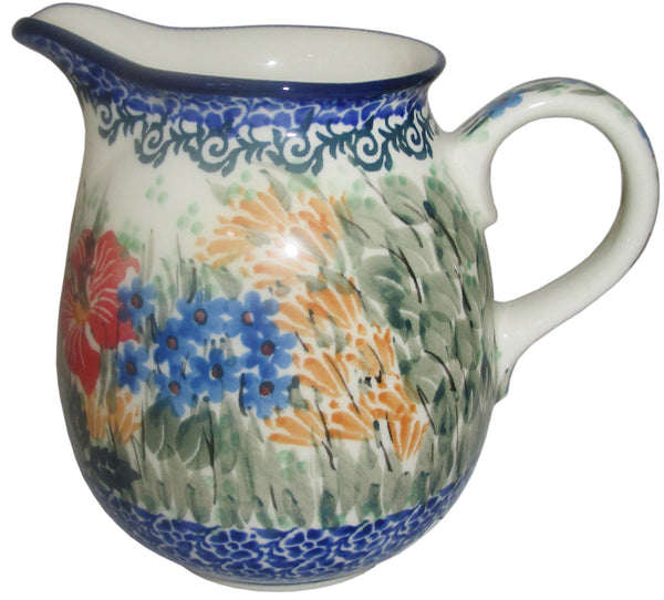 Boleslawiec Polish Pottery UNIKAT 0.5L Pitcher Water or Milk Jug CAU3046