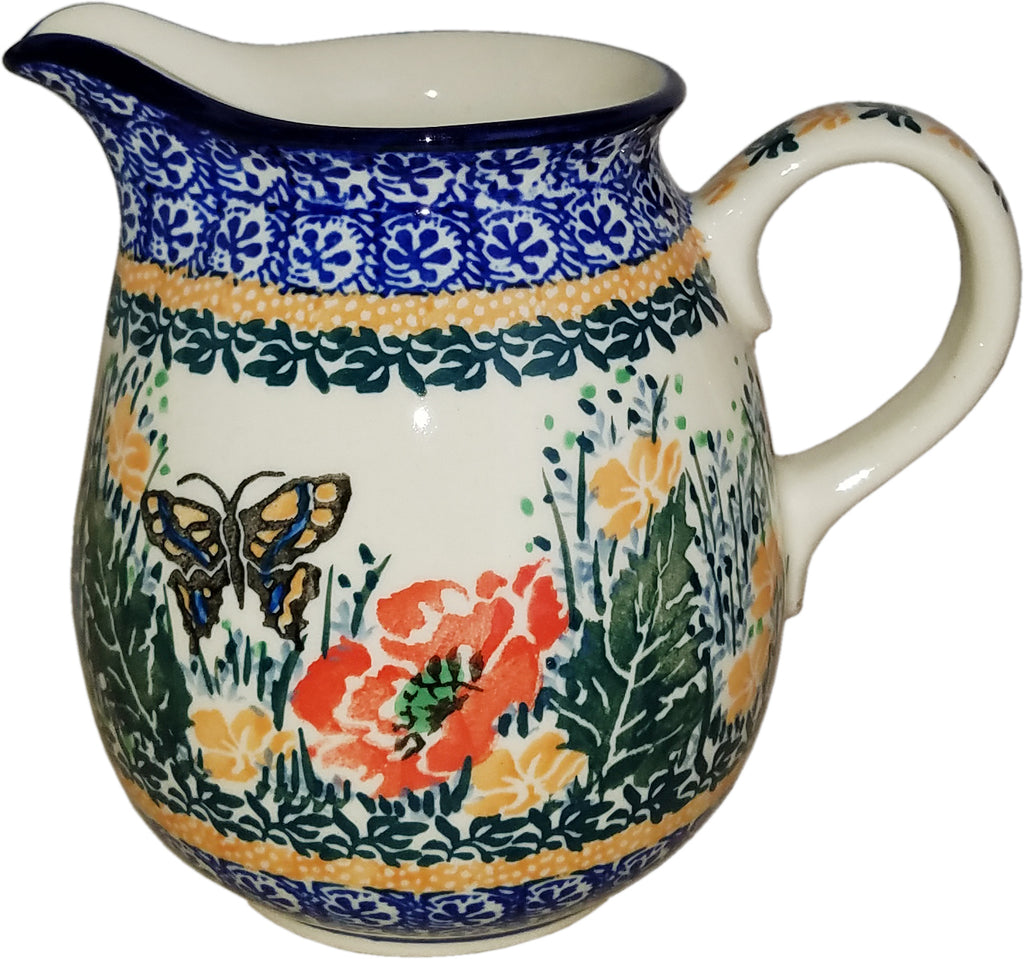 Boleslawiec Polish Pottery UNIKAT 0.5L Pitcher Water or Milk Jug 3093