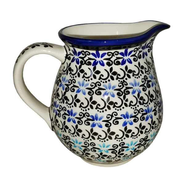 "Boleslawiec Polish Pottery UNIKAT Small Pitcher Milk Jug ""Martina"""