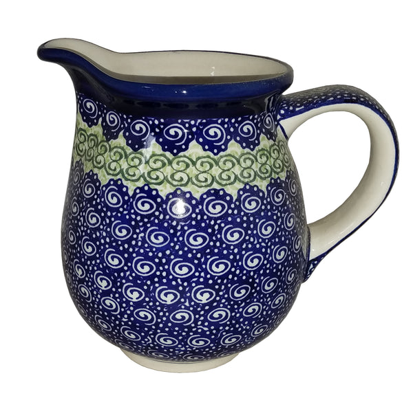 "Boleslawiec Polish Pottery UNIKAT Small Pitcher Water Jug ""Alex"""