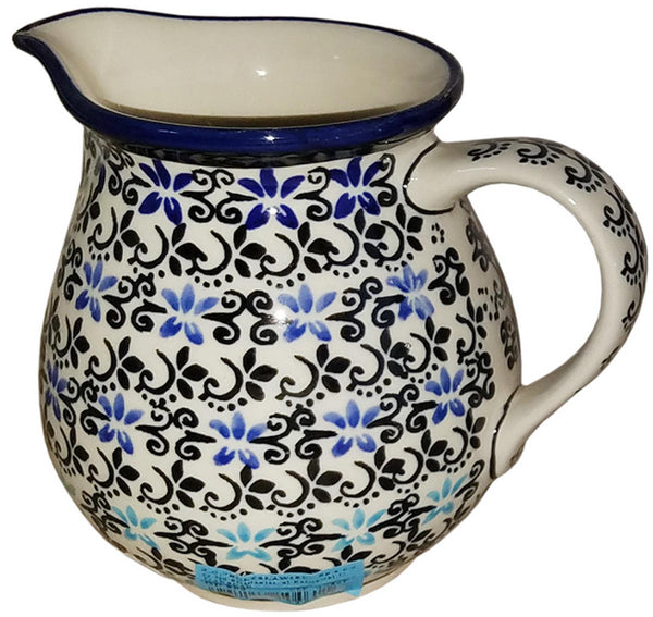 "Boleslawiec Polish Pottery UNIKAT Medium Pitcher Water Jug ""Martina"""