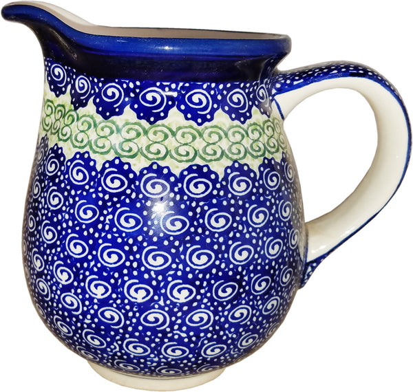 "Boleslawiec Polish Pottery UNIKAT Medium Pitcher ""Alex"""