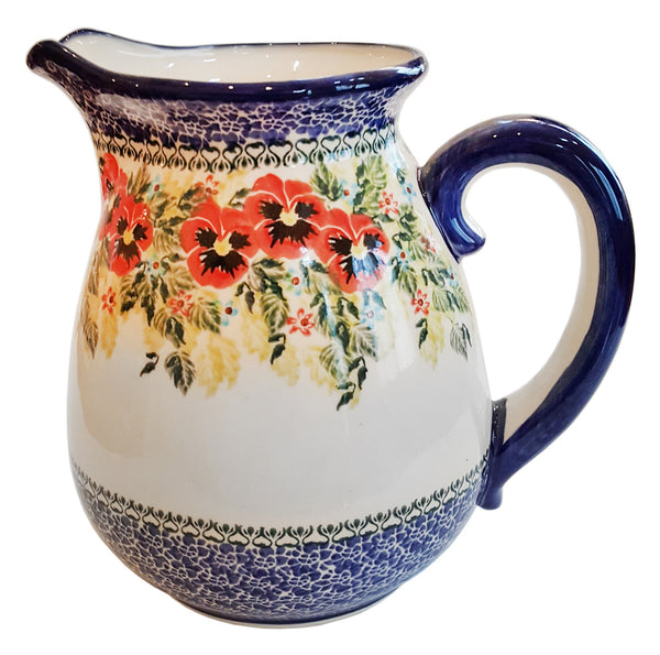 "Boleslawiec Polish Pottery UNIKAT 2L Pitcher Water or Milk Jug ""Summer Day"""