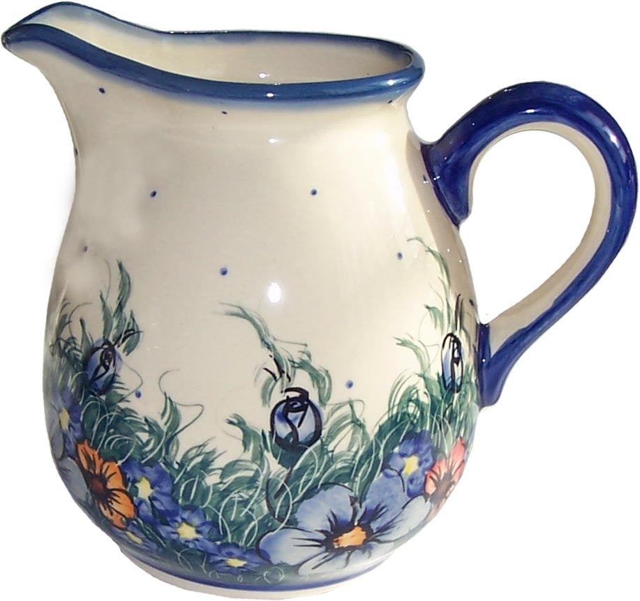 "Boleslawiec Polish Pottery UNIKAT 2L Pitcher Water or Milk Jug ""Wild Field"""
