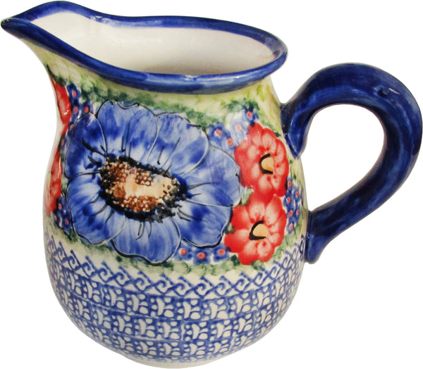 "Boleslawiec Polish Pottery UNIKAT 1L Pitcher Water or Milk Jug ""Isabelle"""