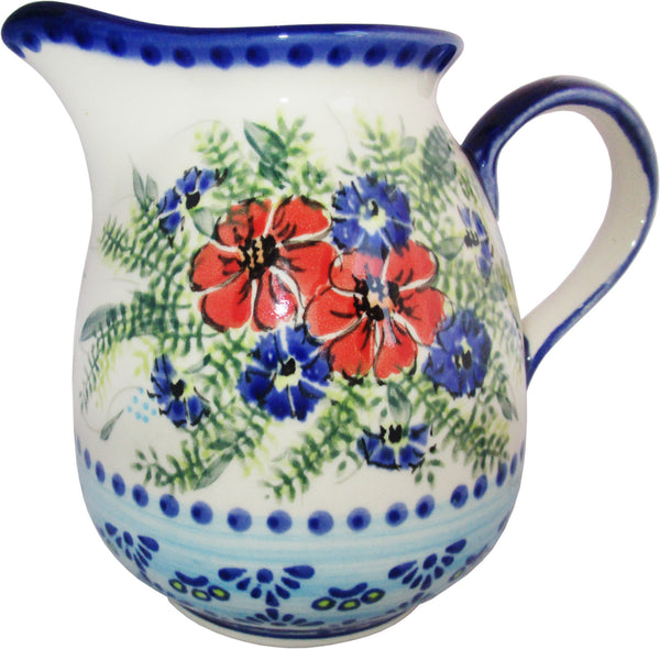 "Boleslawiec Polish Pottery UNIKAT 2L Pitcher Water or Milk Jug ""Veronica"""