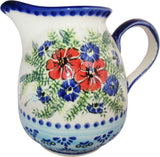 "Boleslawiec Polish Pottery UNIKAT 1L Pitcher Water or Milk Jug ""Veronica"""