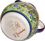 "Boleslawiec Polish Pottery UNIKAT 1L Pitcher Water or Milk Jug ""Serenity"""