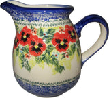 "Boleslawiec Polish Pottery UNIKAT 1L Pitcher Water or Milk Jug ""Summer Day"""