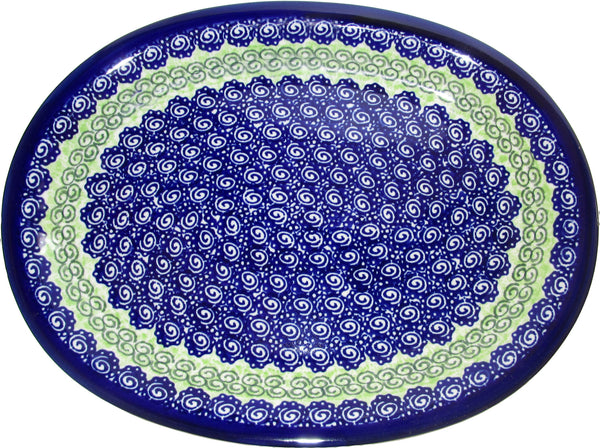 "Boleslawiec Polish Pottery UNIKAT Serving Platter ""Alex"""