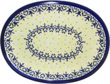 "Boleslawiec Polish Pottery UNIKAT Serving Platter ""Lace"""