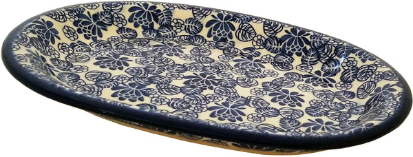 "Boleslawiec Polish Pottery UNIKAT Serving Platter ""Madeline"" from Eva's Collection"