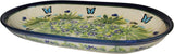 "Boleslawiec Polish Pottery UNIKAT 11"" long Serving Platter ""Serenity"""