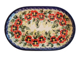 "Boleslawiec Polish Pottery UNIKAT Serving Platter 9.25"" long ""Summer Day"""