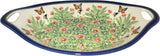 "Boleslawiec Polish Pottery UNIKAT Serving or Baking Dish with Handles ""Spring"""