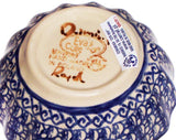 "Boleslawiec Polish Pottery UNIKAT Medium Scalloped Bow ""Isabelle"""