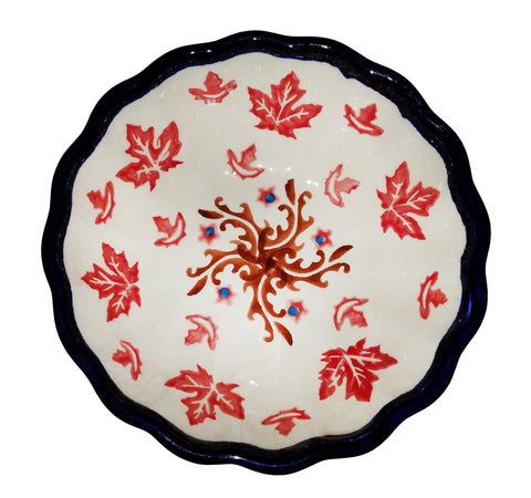 Boleslawiec Polish Pottery Ice Cream Scalloped Bowl