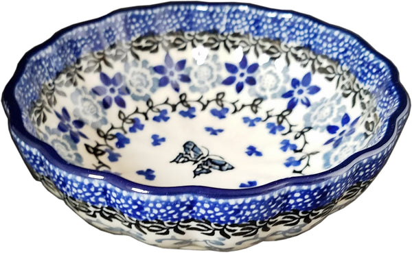 Boleslawiec Polish Pottery UNIKAT Scalloped Bowl CA 1941