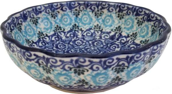Boleslawiec Polish Pottery UNIKAT Scalloped Bowl CA 1478