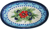 "Boleslawiec Polish Pottery UNIKAT Small Oval Baking Dish ""Veronica"""