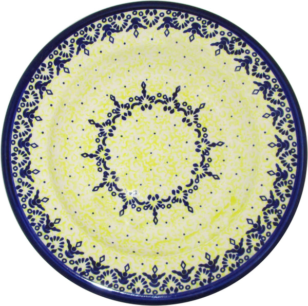 "Boleslawiec Polish Pottery UNIKAT Dinner Serving Plate ""Lace"""