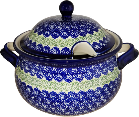 Boleslawiec Polish Pottery UNIKAT Soup Tureen or Baker 3L